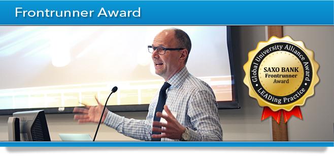 GUA Award Banner - Frontrunner Award - Saxo Bank