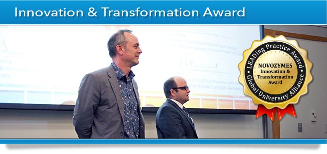 GUA Award Banner - Innovation & Transformation Award - Novozymes