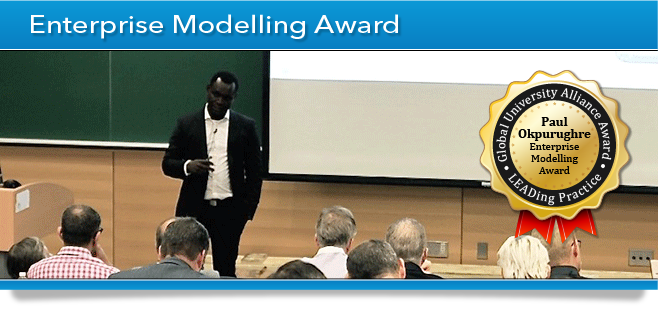 GUA Award Banner - Enterprise Modelling Award - Paul Okpurughre