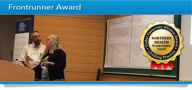 GUA Award Banner - Frontrunner Award - Northern Health
